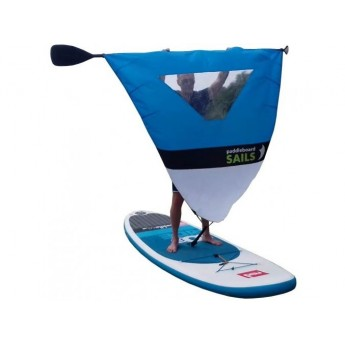 Rolling sail for paddleboard BLUE/WHITE WITH WINDOW