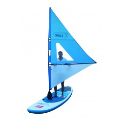 Rolling sail for for paddleboard RED / BLUE