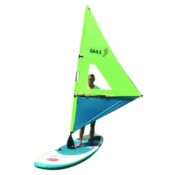 Rolling sail for paddleboard YELLOW/BLUE WITH WINDOW