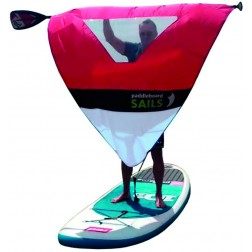 Rolovací plachta na pádlo pro paddleboard ČERVENO/MODRÁ S OKÉNKEM